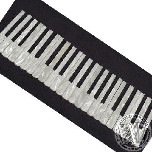 Komplet nakładek na klawiaturę biały perłowy