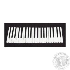 Komplet nakładek na klawiaturę do akordeonu biały