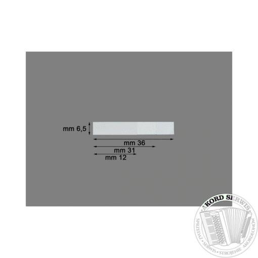 Plastikowy zaworek 36mm